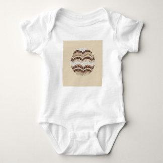 Body Para Bebê Bodysuit bege redondo do jérsei do bebê do mosaico