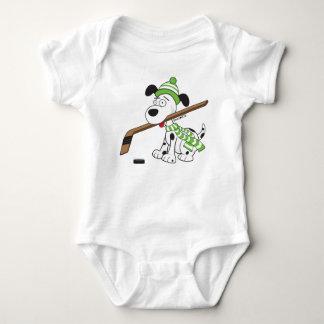 Body Para Bebê Bodysuit bonito da criança do cão do hóquei