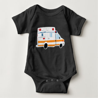 Body Para Bebê Bodysuit bonito do bebê da ambulância