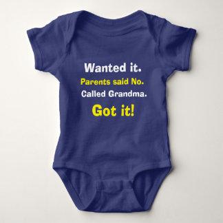 Body Para Bebê Bodysuit bonito do bebê da avó da chamada
