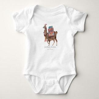 Body Para Bebê Bodysuit bonito do bebé   do animal   do lama