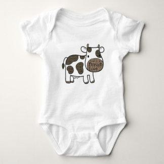 Body Para Bebê Bodysuit bonito do jérsei do bebê com vaca