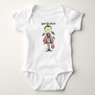 Body Para Bebê Bodysuit bonito feliz do bebê do vampiro do Dia