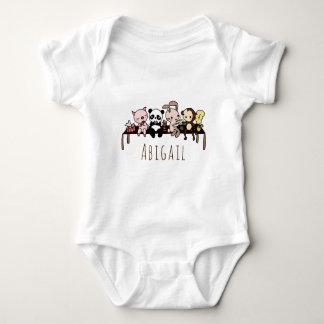 Body Para Bebê Bodysuit bonito personalizado do bebê dos animais
