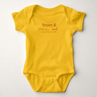 Body Para Bebê Bodysuit bonito Smart do bebê e tipo