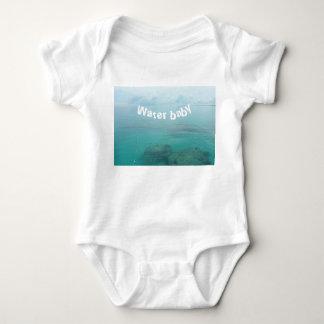 """Body Para Bebê Bodysuit branco do bebê com da """"o bebê água"""" que"""