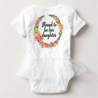 Body Para Bebê Bodysuit brilhante do bebê do tutu do buquê do