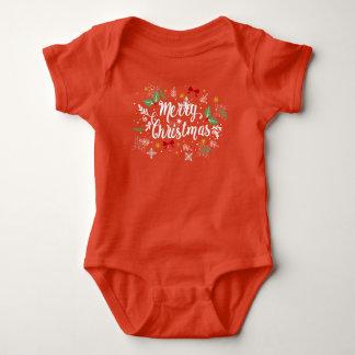 Body Para Bebê Bodysuit brincalhão do jérsei do Feliz Natal de