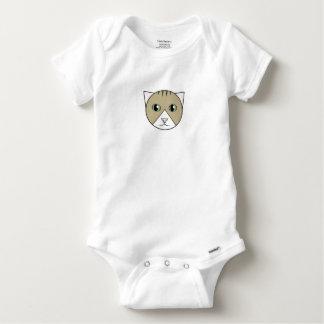 Body Para Bebê Bodysuit Brown-e-Branco do gatinho do gato malhado