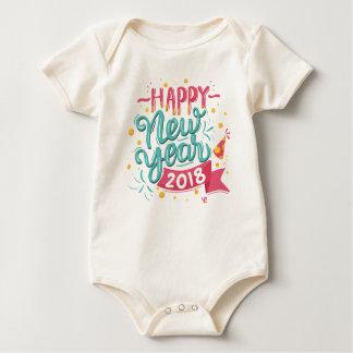 Body Para Bebê Bodysuit colorido customizável do feliz ano novo  