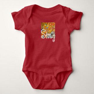 Body Para Bebê Bodysuit colorido do bebê dos pássaros