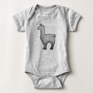 Body Para Bebê Bodysuit concreto do bebê do lama