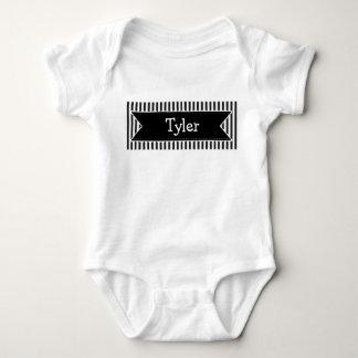 Body Para Bebê Bodysuit conhecido preto conhecido personalizado