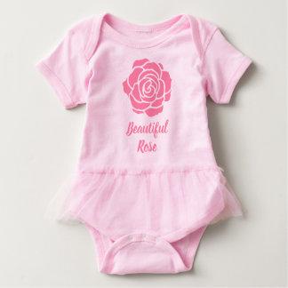 Body Para Bebê Bodysuit cor-de-rosa bonito cor-de-rosa do tutu do