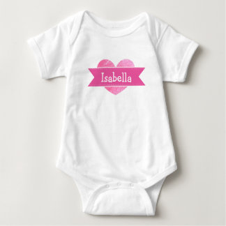 Body Para Bebê Bodysuit cor-de-rosa conhecido personalizado do