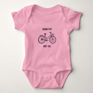 Body Para Bebê Bodysuit cor-de-rosa do bebê da bicicleta