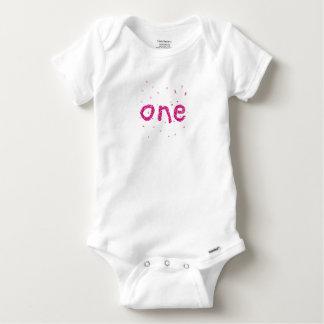 Body Para Bebê Bodysuit cor-de-rosa do brilho do primeiro