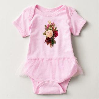 Body Para Bebê Bodysuit cor-de-rosa do tutu do bebê da pintura