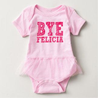 Body Para Bebê Bodysuit cor-de-rosa engraçado do tutu de Felicia