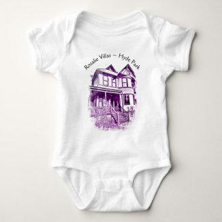 Body Para Bebê Bodysuit da criança das casas de campo de Rosáalia
