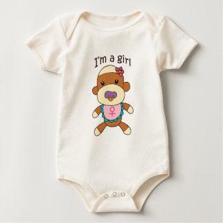Body Para Bebê Bodysuit da criança do bebé do macaco da peúga