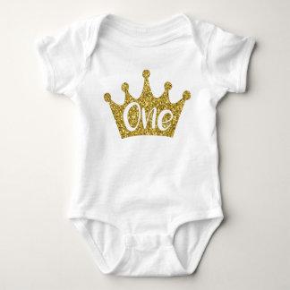 Body Para Bebê Bodysuit da princesa Coroa uma do ouro