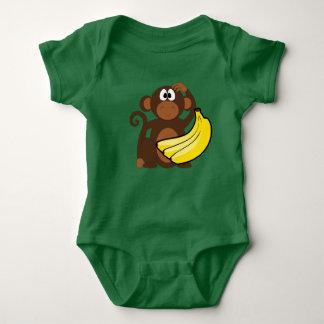 Body Para Bebê Bodysuit das MENINAS do macaco