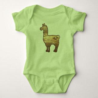 Body Para Bebê Bodysuit de madeira do bebê do lama