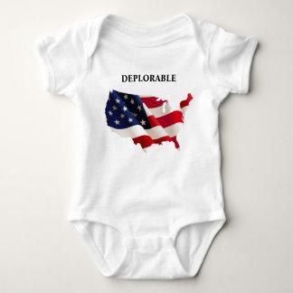Body Para Bebê Bodysuit deplorável patriótico do jérsei do bebê