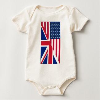 Body Para Bebê Bodysuit do americano e do bebê da bandeira de