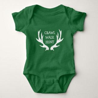 Body Para Bebê Bodysuit do antler dos cervos da CAÇA da CAMINHADA