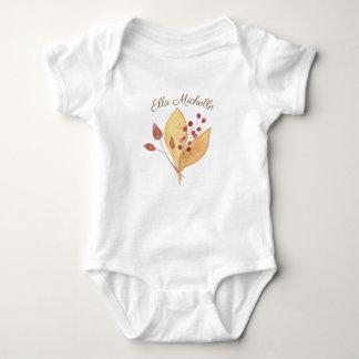 Body Para Bebê Bodysuit do bebê com feriado das folhas & dos