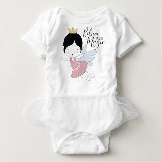 Body Para Bebê Bodysuit do bebé com tutu - acredite na mágica