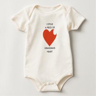 Body Para Bebê Bodysuit do bebê, Creeper, coração da avó do