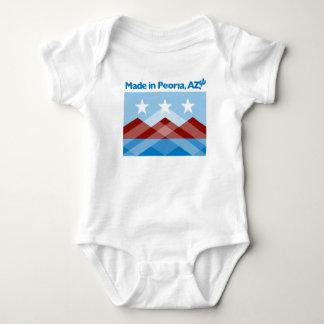 Body Para Bebê Bodysuit do bebê da bandeira de Peoria