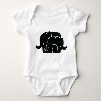 Body Para Bebê Bodysuit do bebê da família do elefante