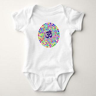 Body Para Bebê Bodysuit do bebê da mandala de OM