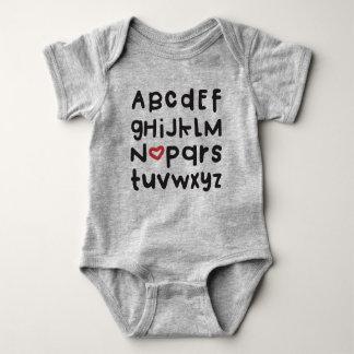 Body Para Bebê Bodysuit do bebê de ABC do coração