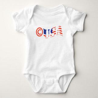 Body Para Bebê Bodysuit do bebê de Copyright EUA