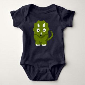 Body Para Bebê Bodysuit do bebê de Dino do Triceratops