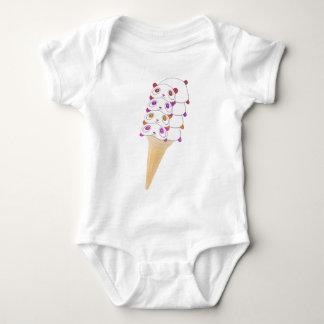 Body Para Bebê Bodysuit do bebê do cone do sorvete da panda