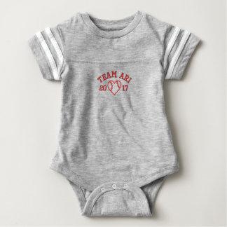 Body Para Bebê Bodysuit do bebê do futebol do coração do basebol
