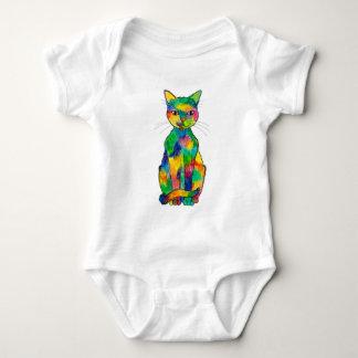 Body Para Bebê Bodysuit do bebê do gato do arco-íris