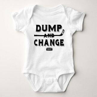 Body Para Bebê Bodysuit do bebê do hóquei da descarga e da