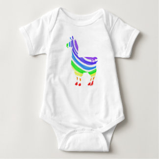 Body Para Bebê Bodysuit do bebê do lama do arco-íris
