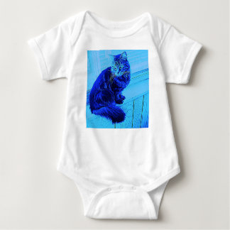 Body Para Bebê Bodysuit do bebê do menino azul