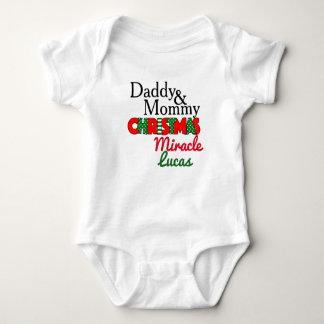 Body Para Bebê Bodysuit do bebê do milagre do Natal do pai & das