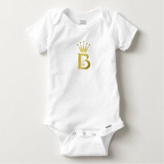 Body Para Bebê Bodysuit do bebê do monograma da letra da inicial