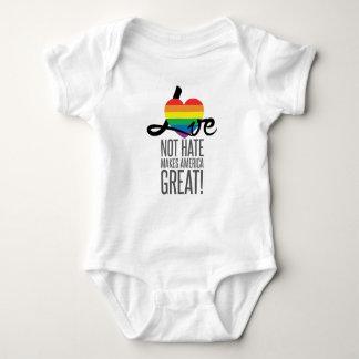 Body Para Bebê Bodysuit do bebê do ódio do amor não (arco-íris)