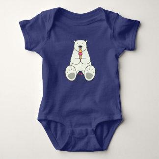 Body Para Bebê Bodysuit do bebê do urso polar do amante do